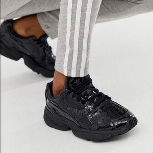 Adidas Falcon Glossy Black Sneakers